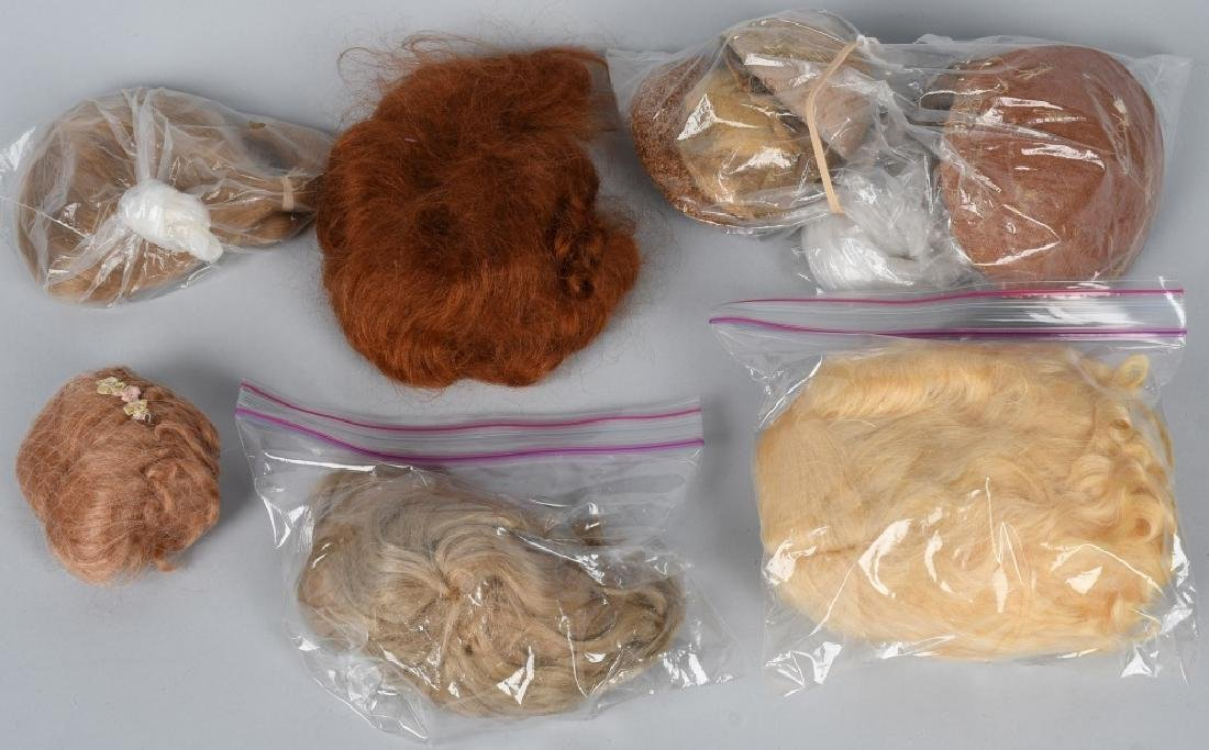 LOT of DOLL WIGS and PATES - 2