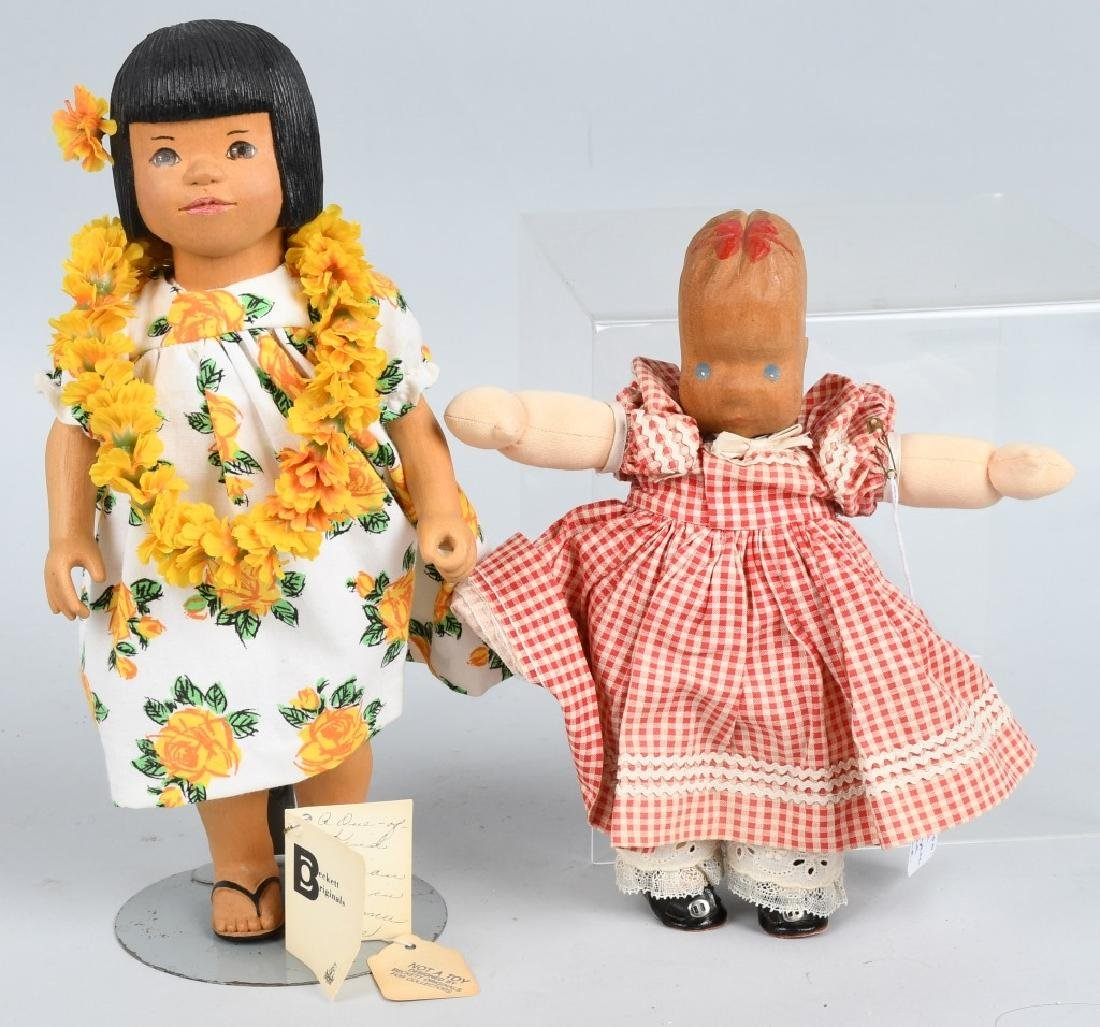 2- WOOD DOLLS BECKETT ORIGINAL & MORE