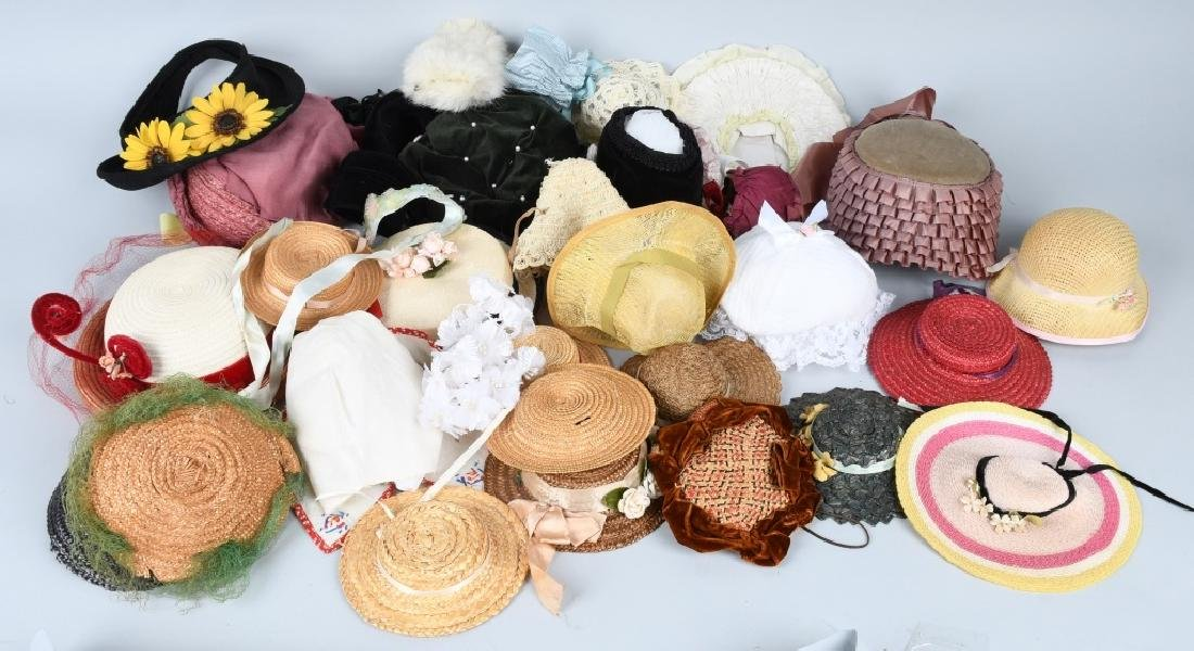 LARGE LOT of DOLL HATS