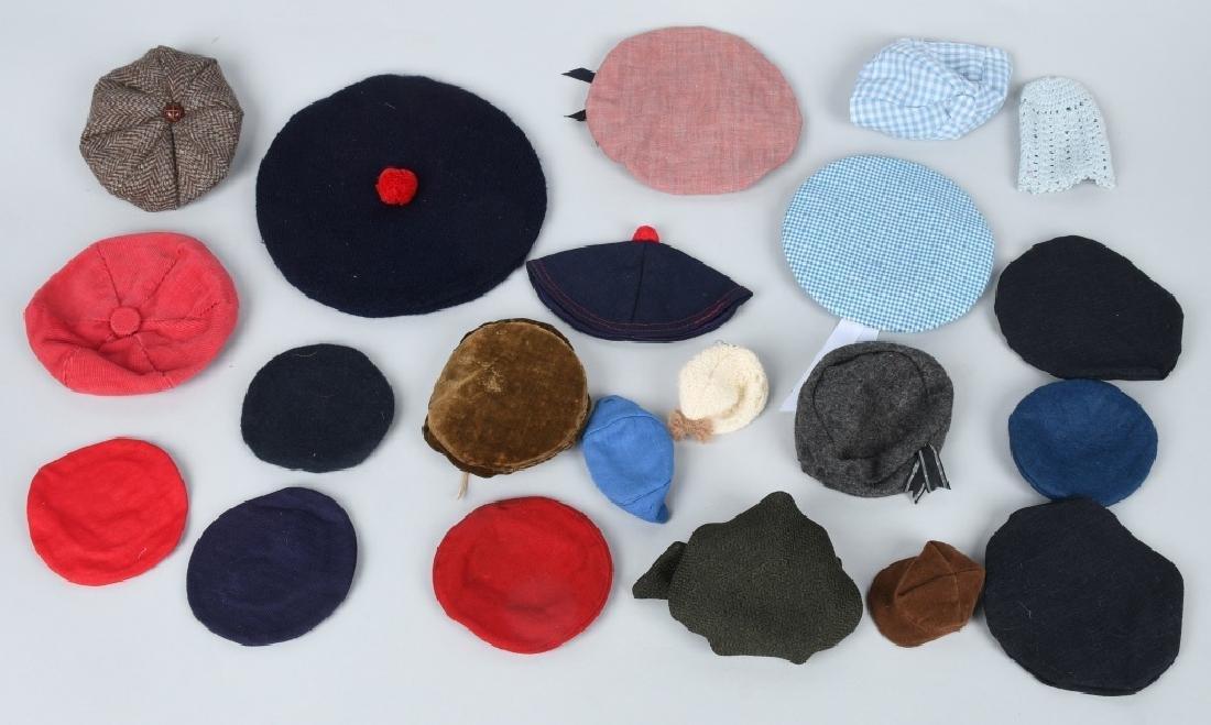 21-DOLL HATS, SEVERAL VINTAGE