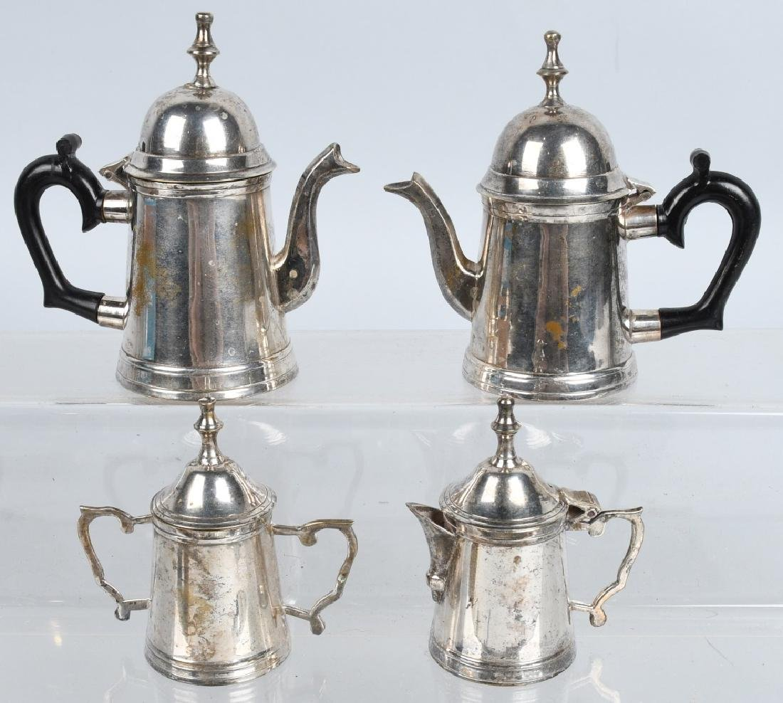 CHILDS & DOLL SILVER PLATE TEA SET & SILVERWARE - 2