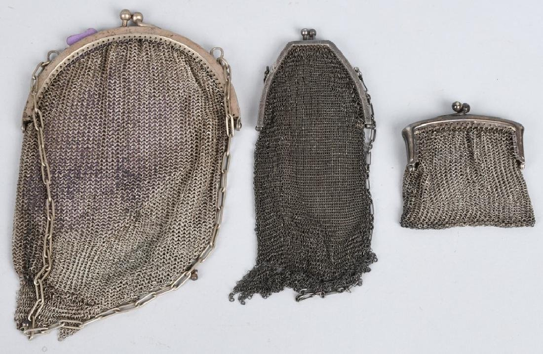 6-MESH PURSES, STERLING, GERMAN SILVER & MORE - 5