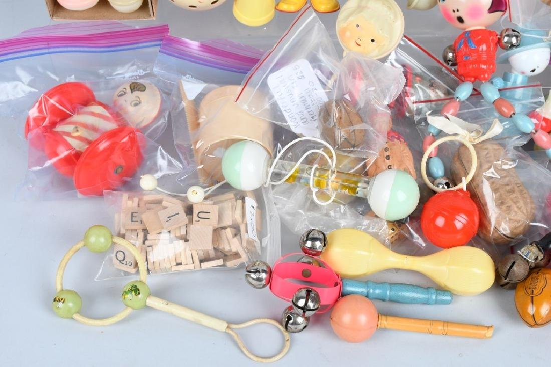 LARGE LOT CELLOID RATTLES, TOYS & MORE - 5