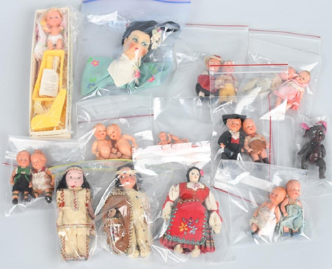 VINTAGE DOLL LOT, DOLLHOUSE & MORE