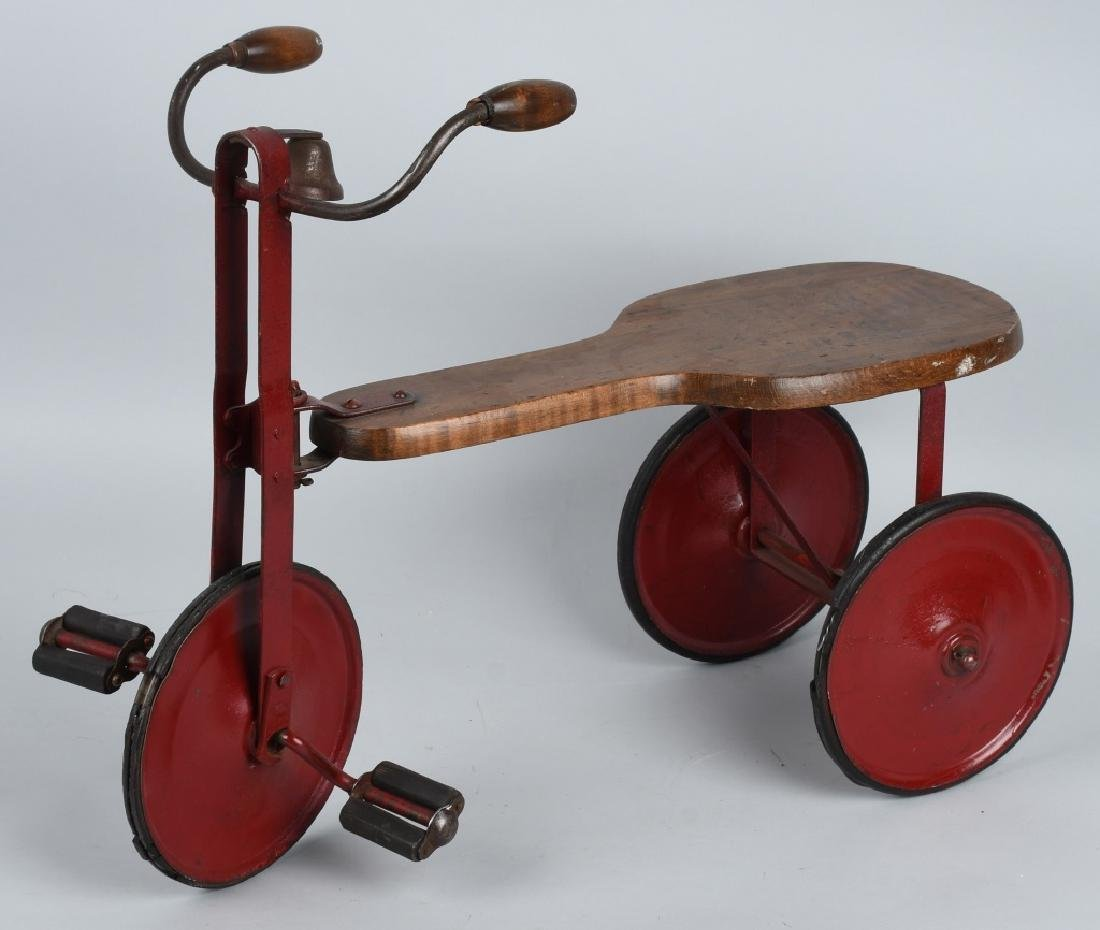 EARLY WOOD & IRON SIDEWALK TRICYCLE