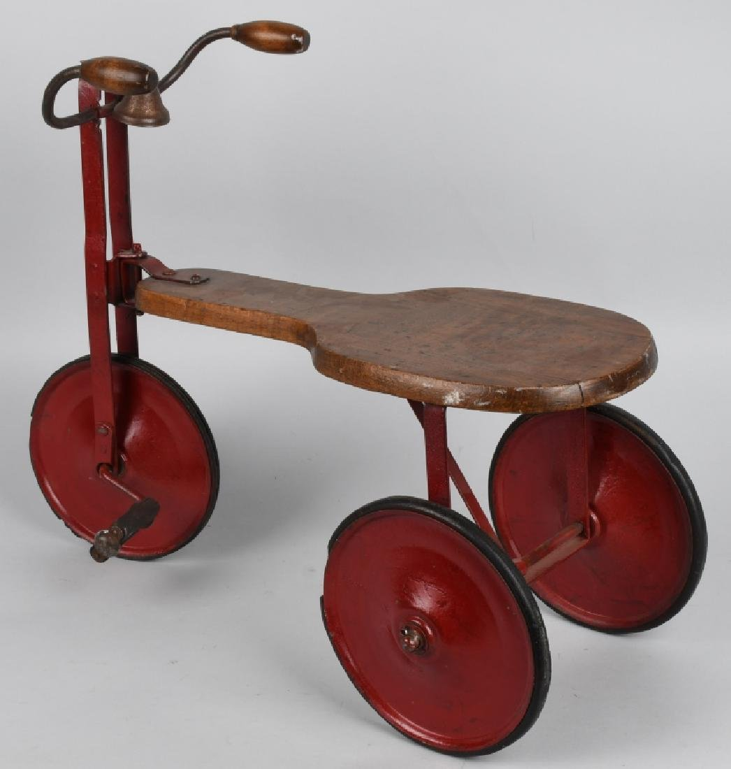 EARLY WOOD & IRON SIDEWALK TRICYCLE - 2
