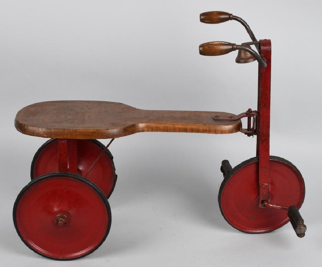 EARLY WOOD & IRON SIDEWALK TRICYCLE - 3
