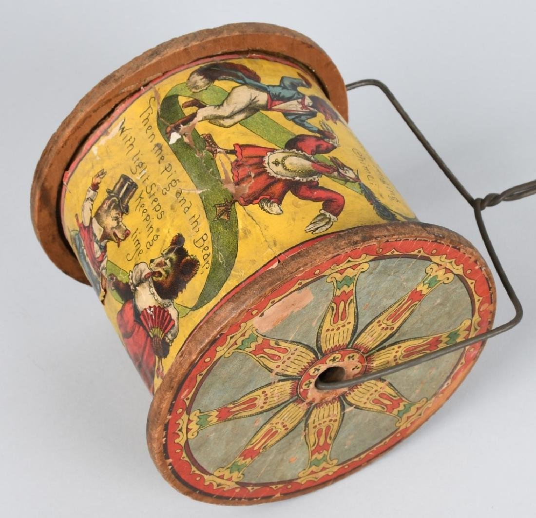 19th CENT. BLISS PAPER on WOOD PULLL TOY