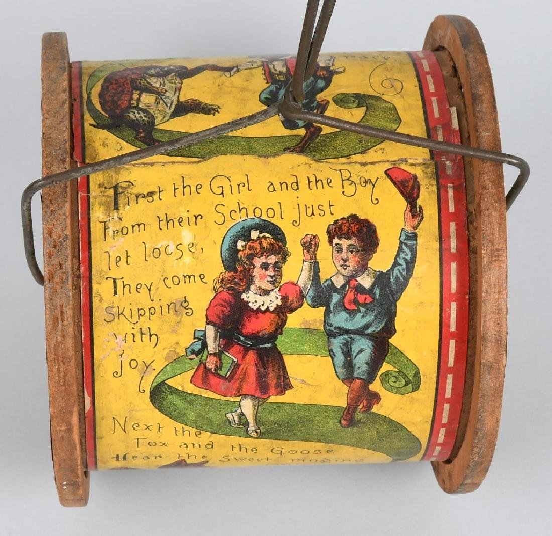 19th CENT. BLISS PAPER on WOOD PULLL TOY - 4