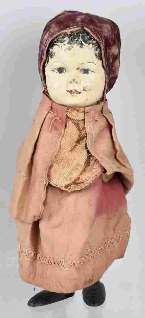 SPRING FOLK ART DOLL WITH COMPOSTION FACE