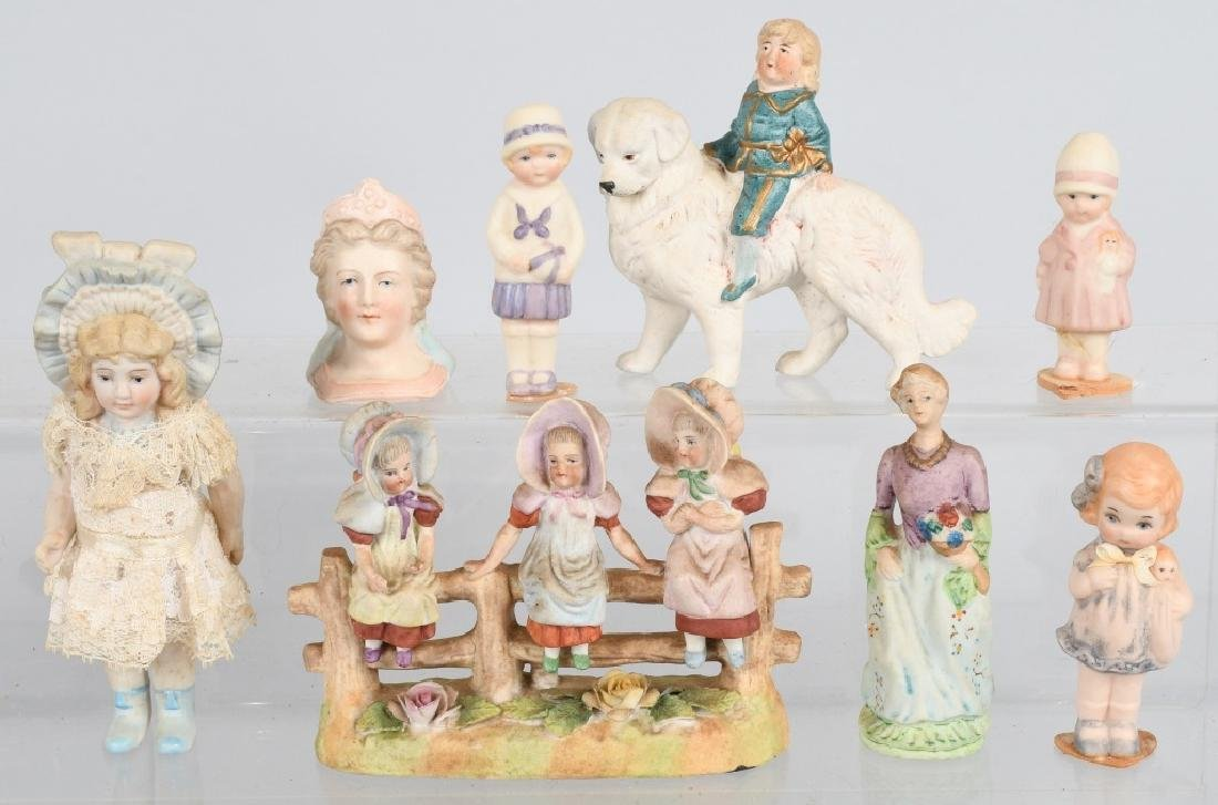 GROUPING OF BISQUE FIGURES