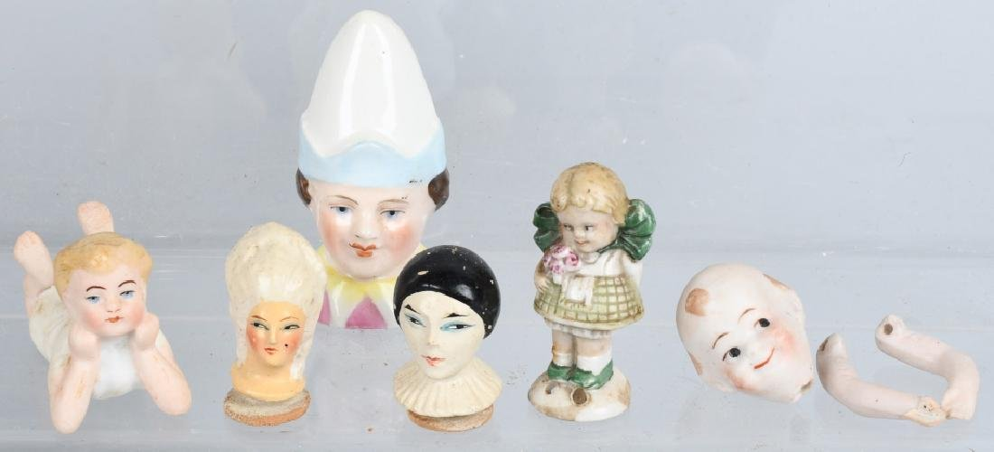 GROUPING OF TWO BISQUE DOLLS AND MORE - 2
