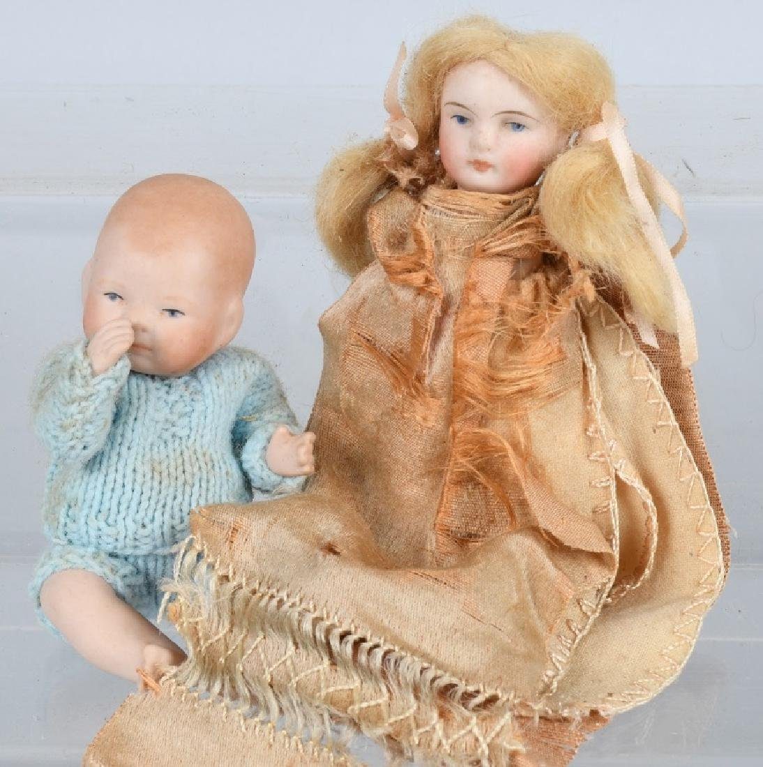 GROUPING OF TWO BISQUE DOLLS AND MORE - 3