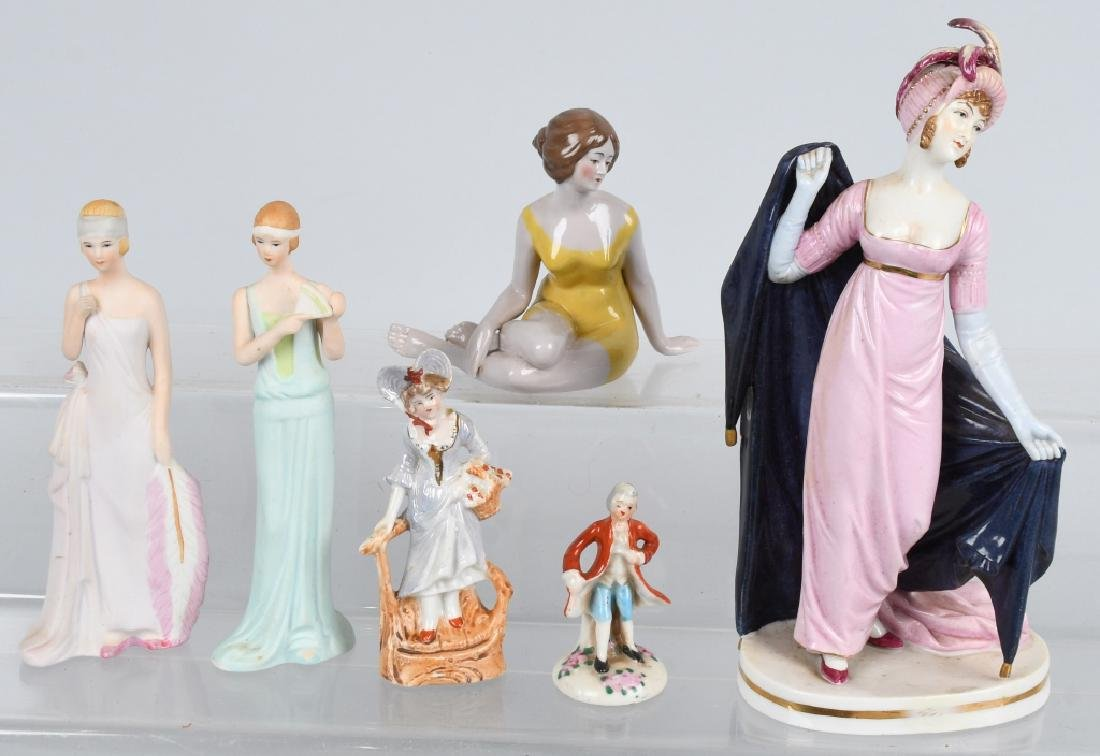 GROUPING PORCELAIN AND BISQUE FIGURES