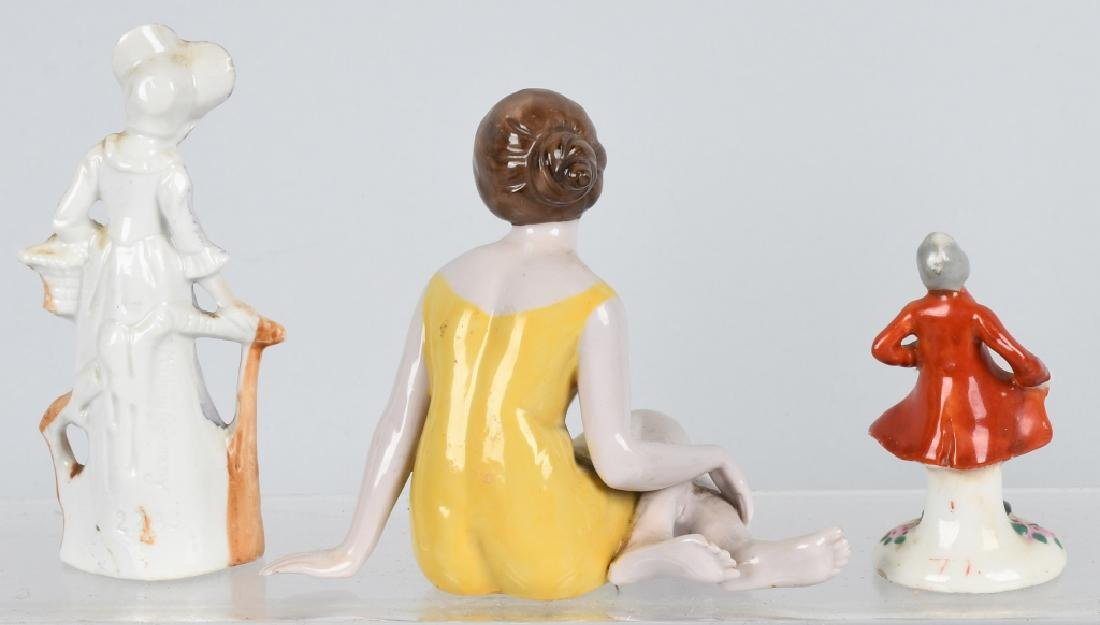 GROUPING PORCELAIN AND BISQUE FIGURES - 6