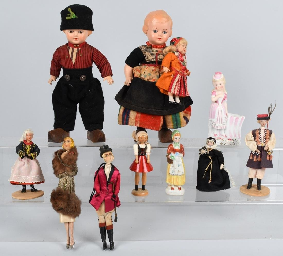 PAIR CELLULOID GLASS EYES DOLLS AND MORE