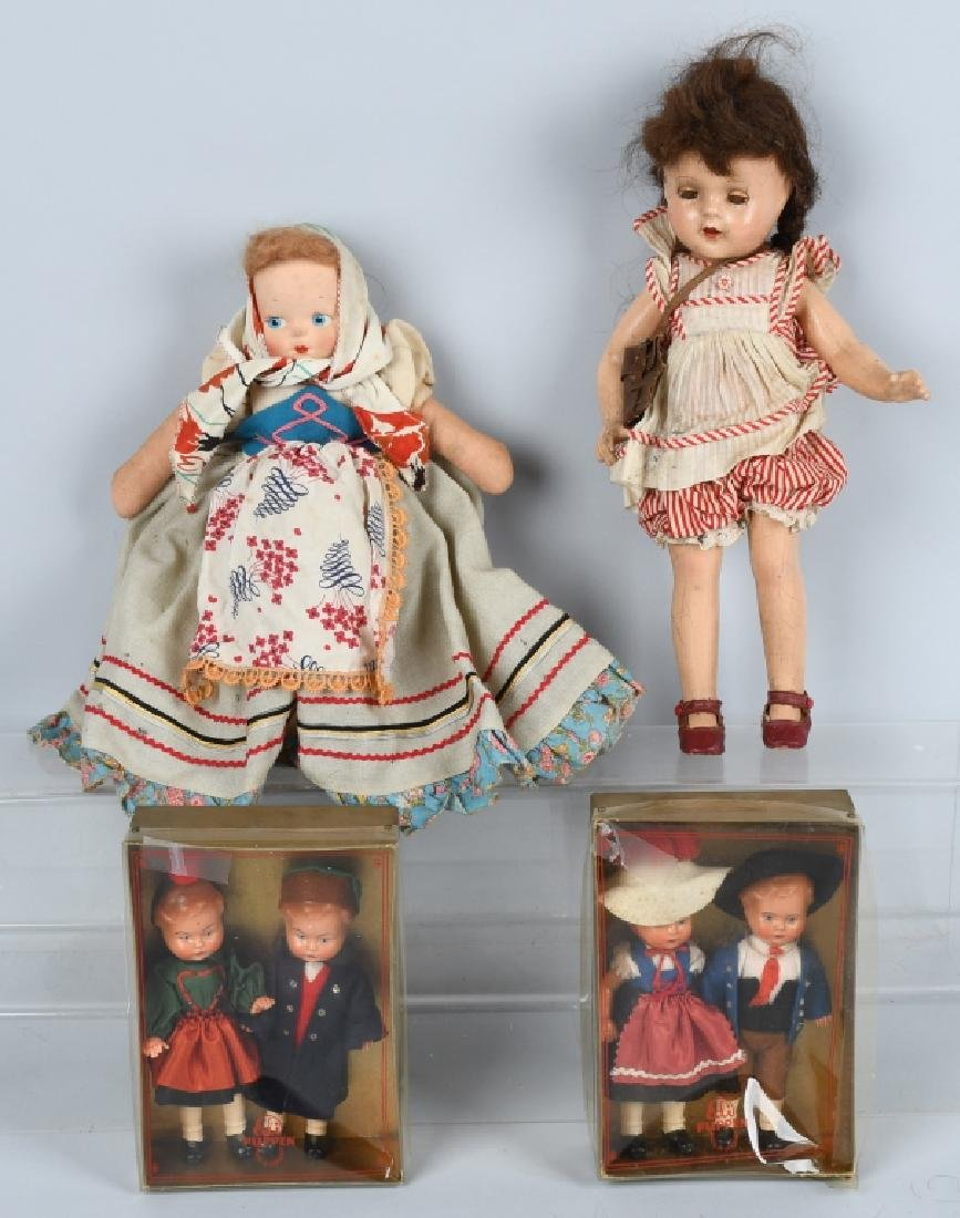 COMPOSITION, CLOTH, AND PUPPEN DOLLS