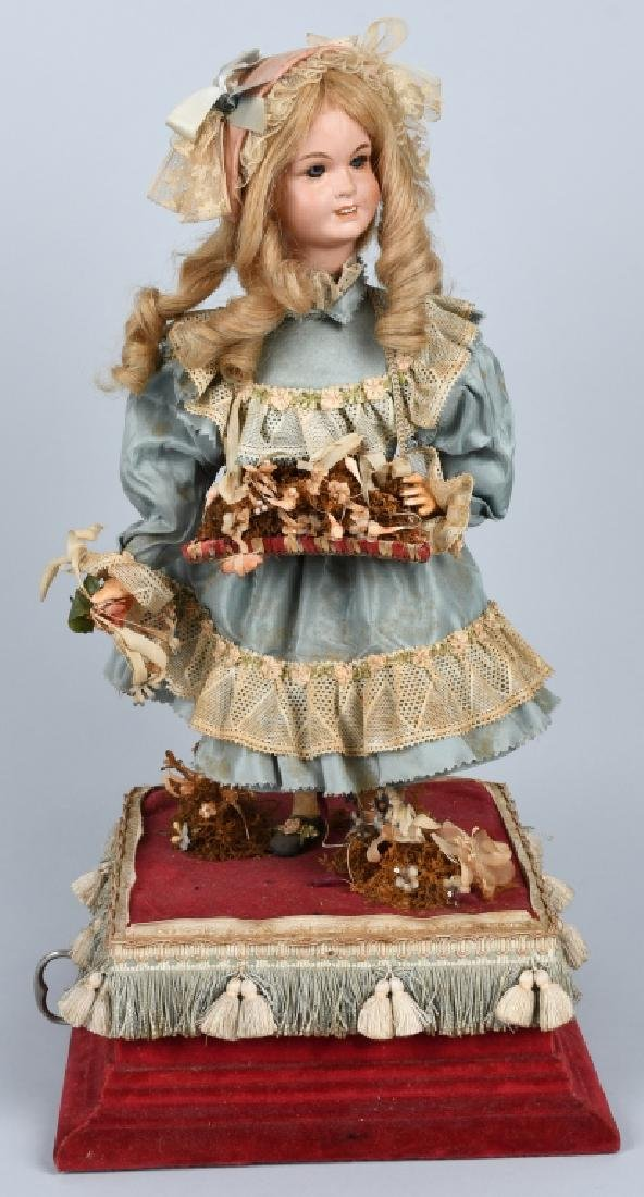 FRENCH BISQUE DOLL Clockwork AUTOMATON