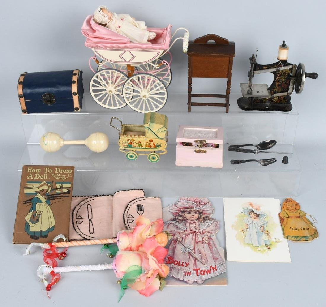 NICE GROUPING OF DOLL ACCESSORIES AND MORE