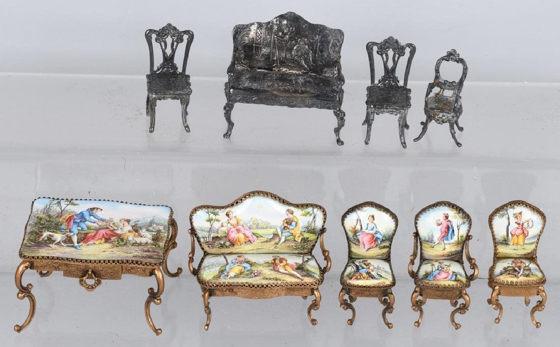 NICE GROUPING OF DOLL FURNITURE