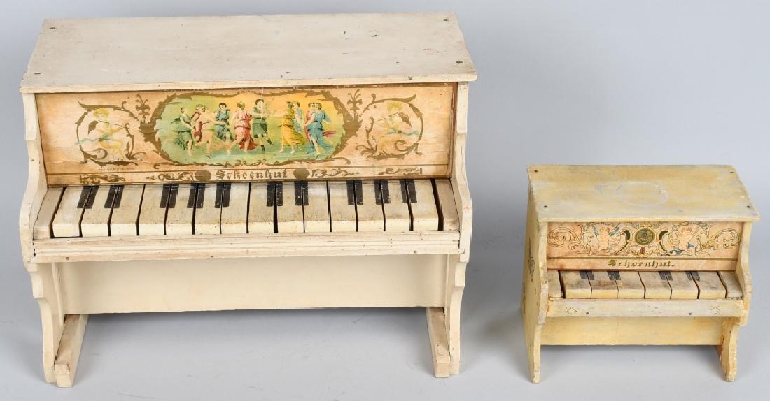 TWO SCHOENHUT PIANO'S