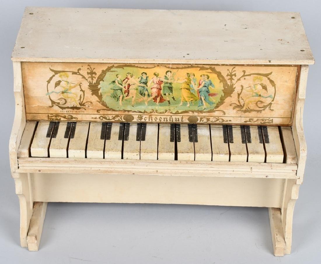 TWO SCHOENHUT PIANO'S - 2