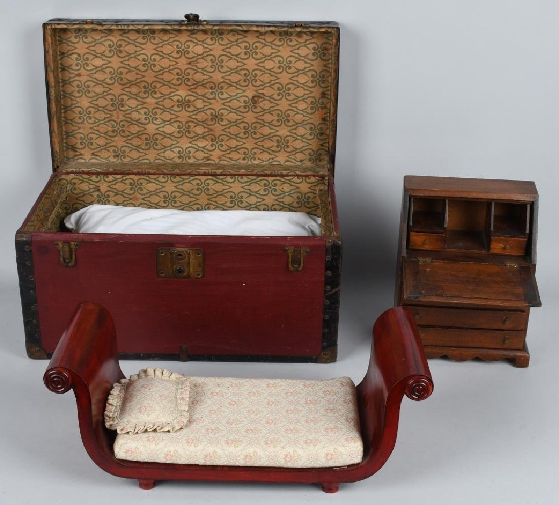 DOLL TRUNK, AND DESK