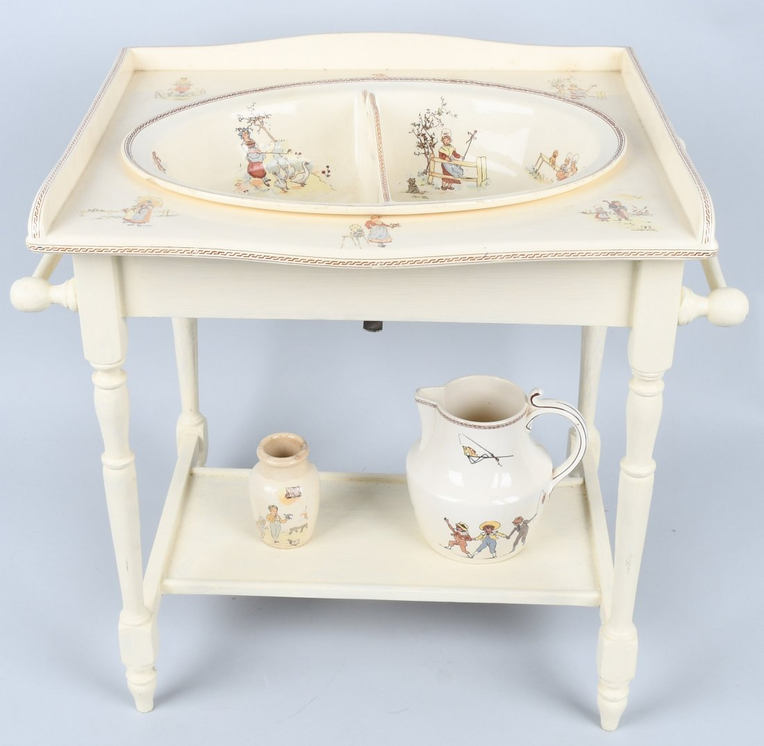 FRENCH KATE GREENAWAY CHILD's WASH STAND