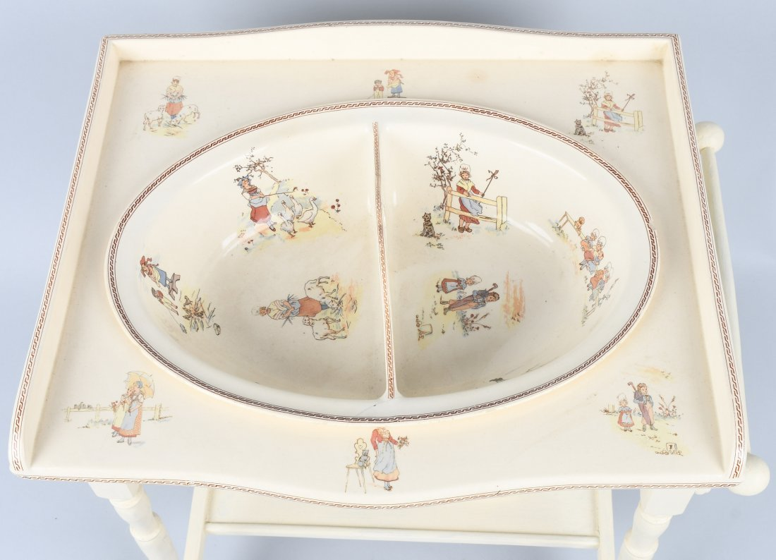 FRENCH KATE GREENAWAY CHILD's WASH STAND - 2