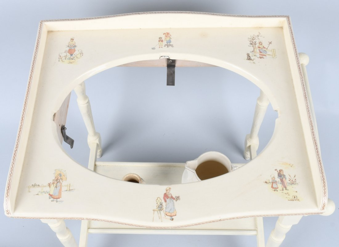 FRENCH KATE GREENAWAY CHILD's WASH STAND - 3