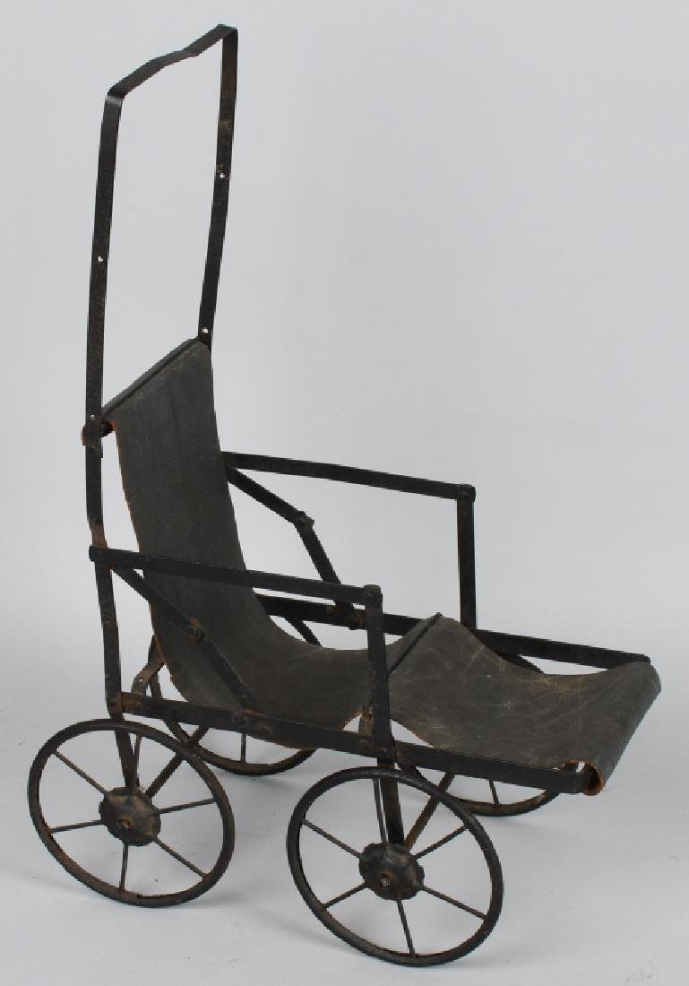VINTAGE STROLLER AND TWO CONTEMPORARY BABY BUGGIES - 4