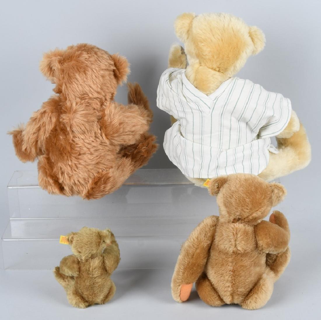 FOUR BEAR THREE STEIFF BEARS AND A FRIEND - 6