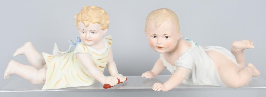 2-HUEBACH BISQUE PIANO BABIES