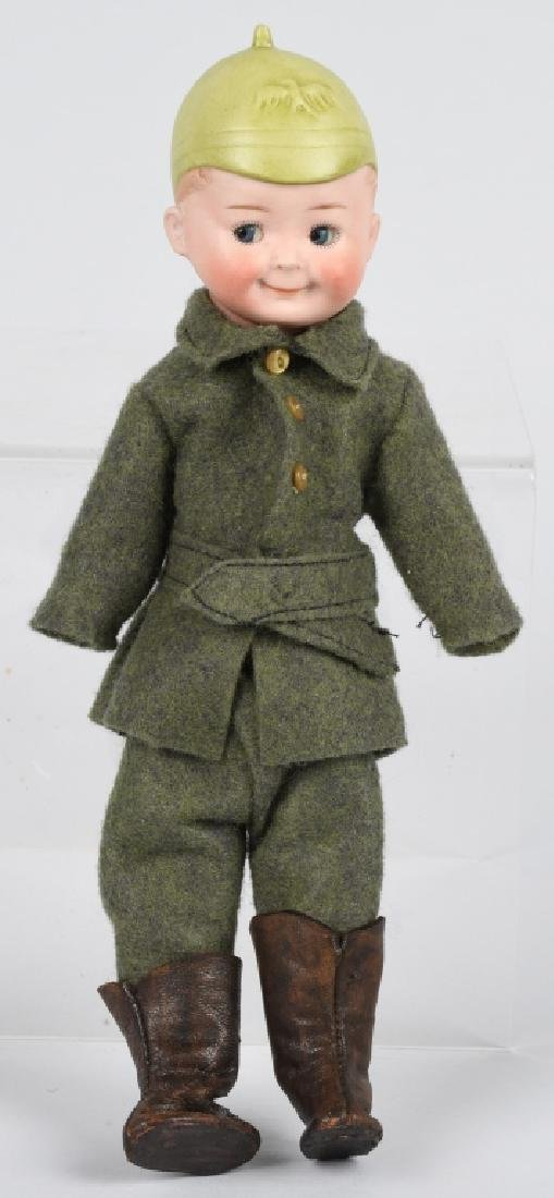 RARE GOOGLY DOLL with MOLDED PRUSSIAN HELMET