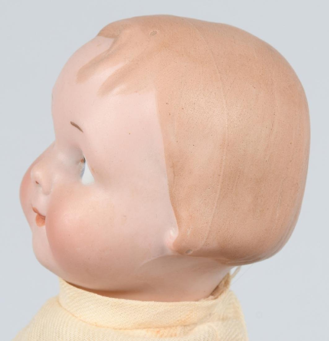 GERMAN AM GOOGLY BISQUE DOLL, MOLDED HAIR - 3