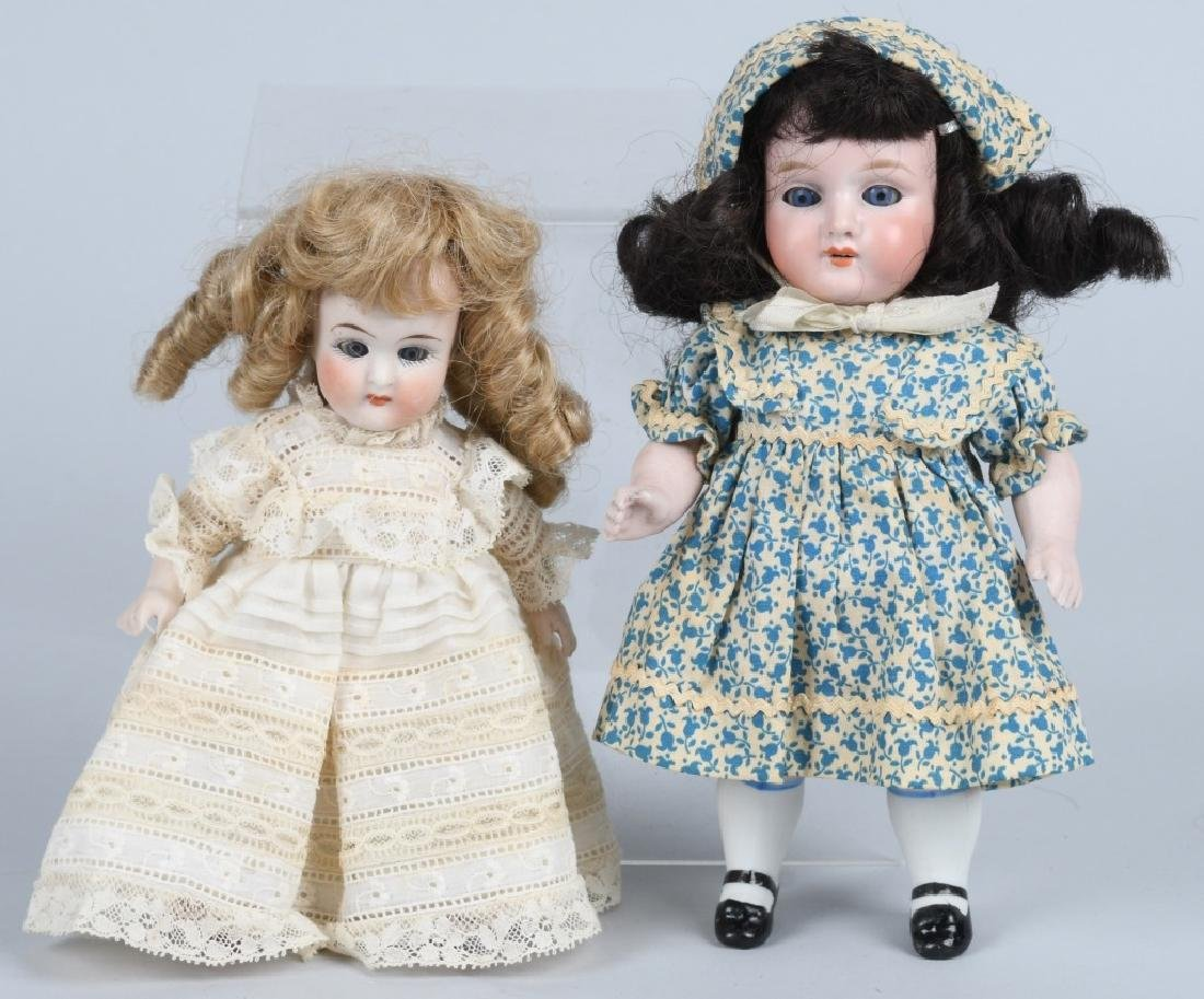 2-GERMAN BISQUE DOLLS