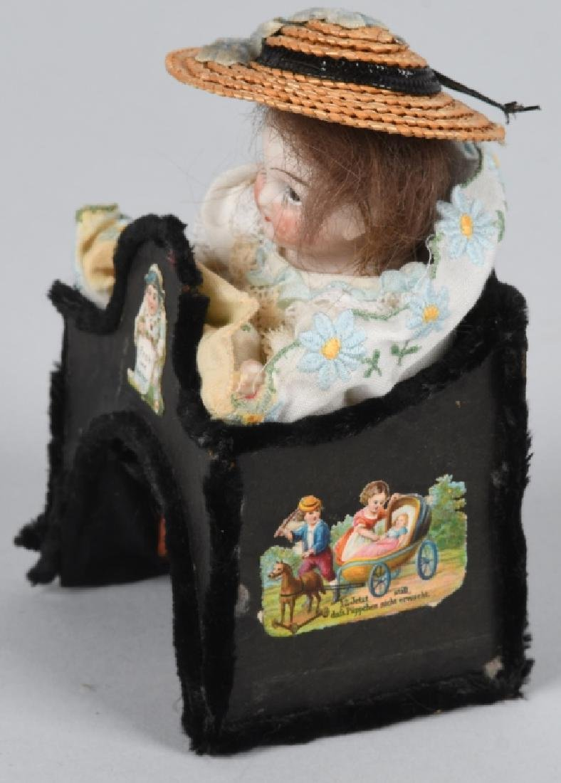GERMAN MINIATURE BISQUE DOLLS & MORE - 2