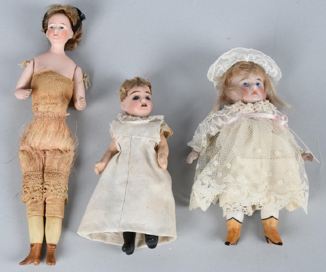 GERMAN MINIATURE BISQUE DOLLS & MORE - 7