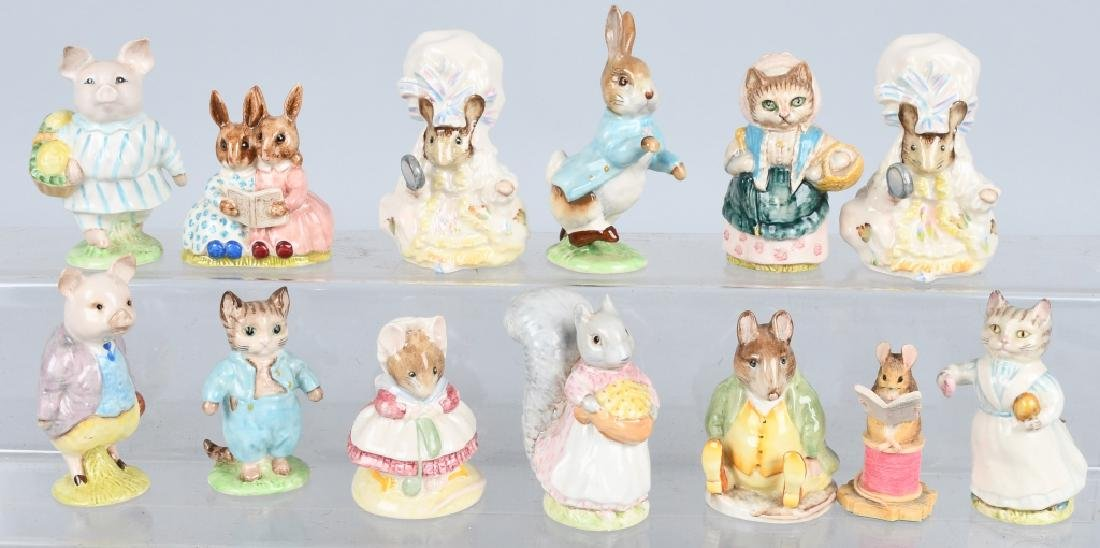 NICE GROUP OF BEATRIX POTTER'S FIQURINES AND MORE