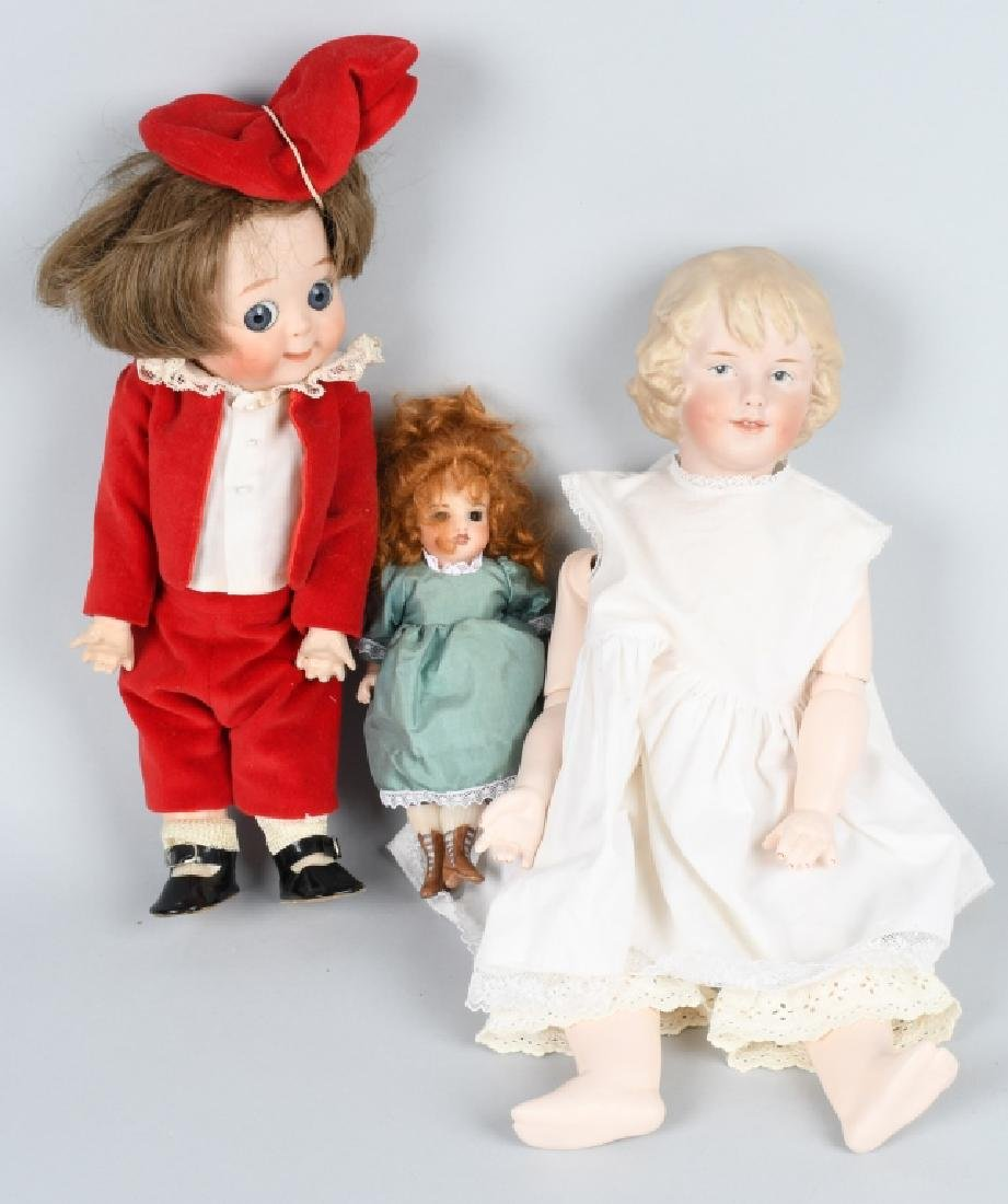 3-CONTEMPORARY BISQUE DOLLS, GGOGLY & MORE
