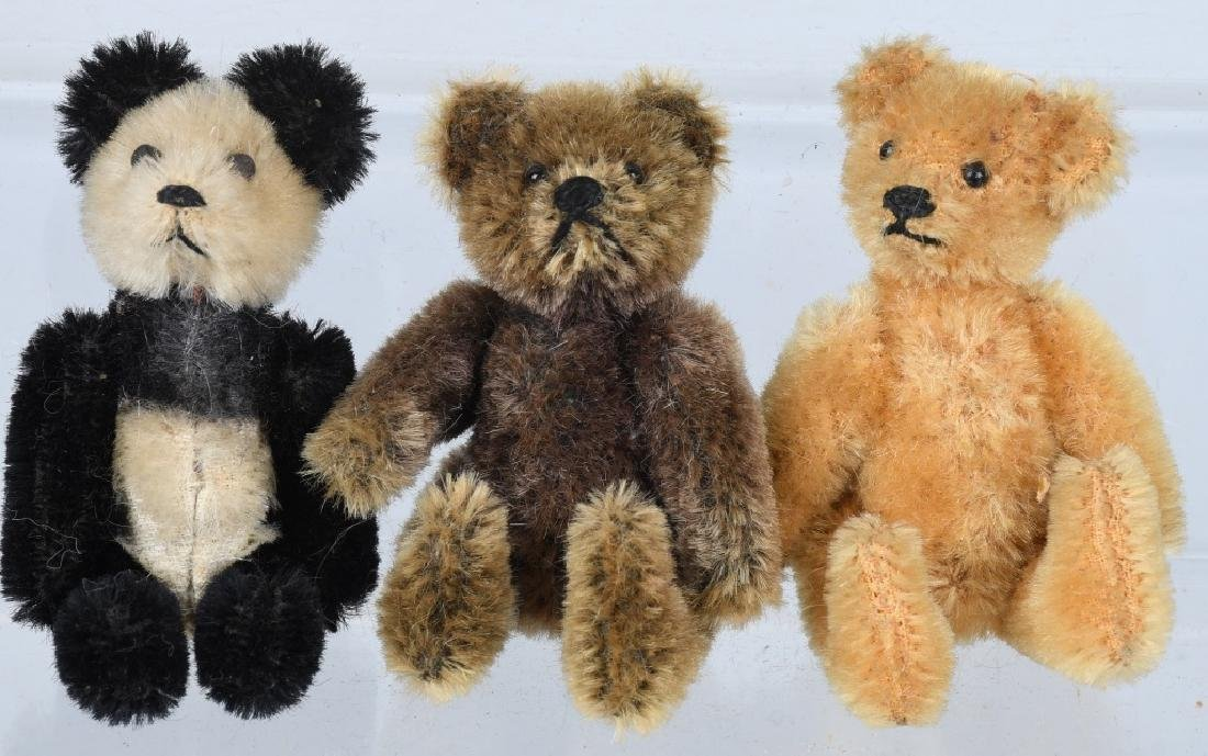 THREE SCHUCO BEARS 1950's