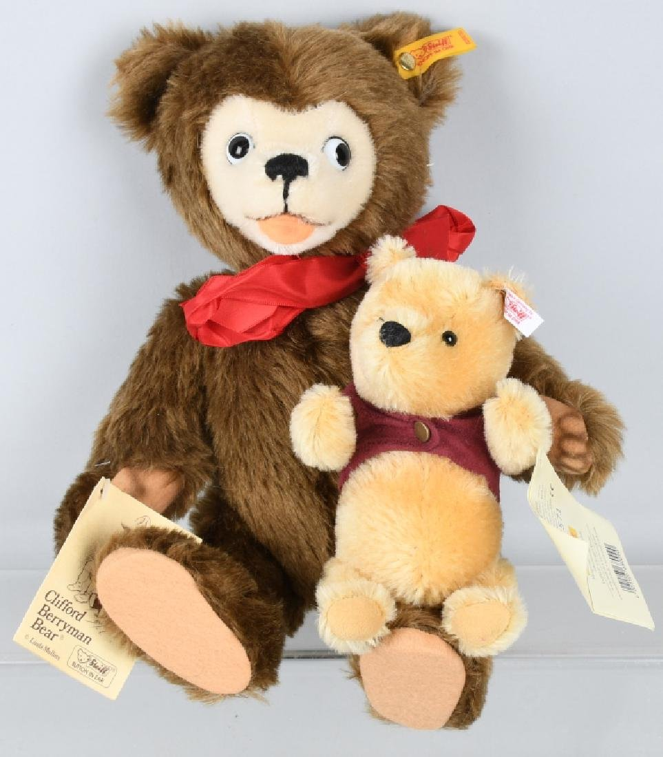 STEIFF CLIFFORD BERRYMAN BEAR AND POOH