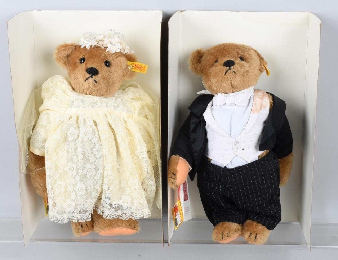 STEIFF GROOM, BRIDE, RING BEAR, AND FLOWER BEAR - 2