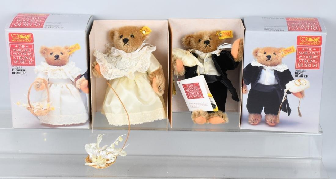 STEIFF GROOM, BRIDE, RING BEAR, AND FLOWER BEAR - 5