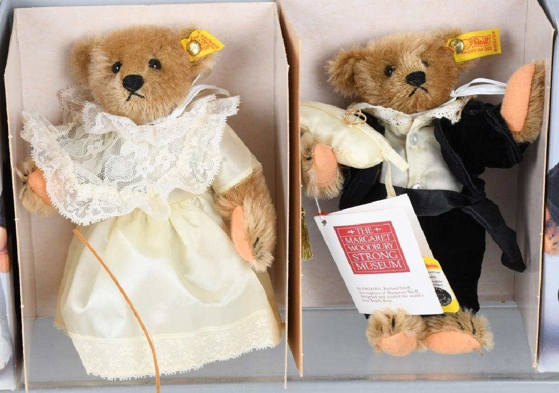 STEIFF GROOM, BRIDE, RING BEAR, AND FLOWER BEAR - 6