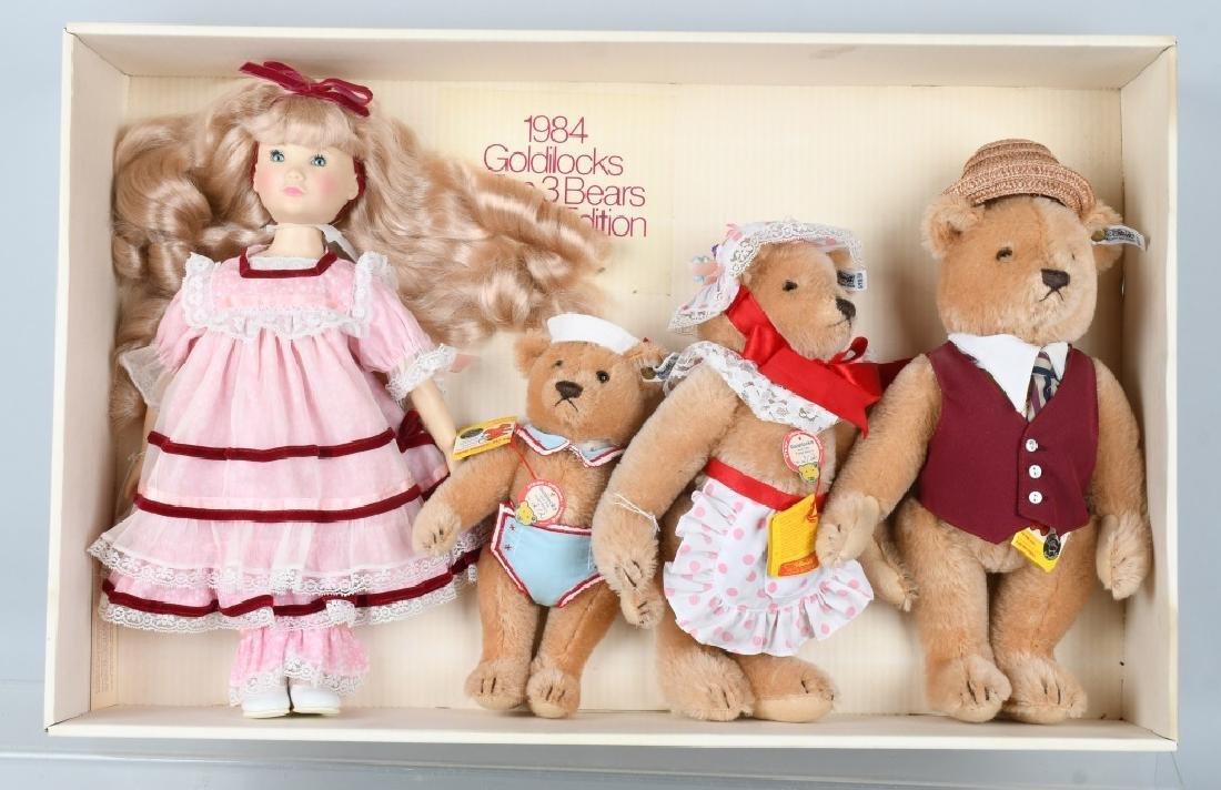 STEIFF Suzanne-Gibson GOLDILOCKS & 3 BEAR SET