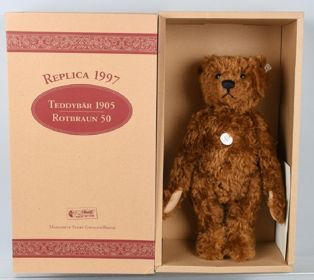 STEIFF TEDDY BEAR 1905 RED BROWN 50 REPLICA