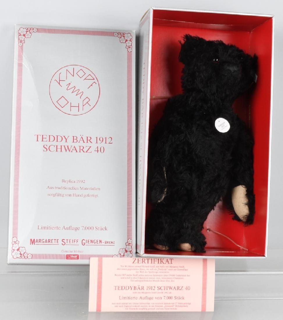 STEIFF TEDDY BEAR SCHARZ BLACK REPLICA L.E.