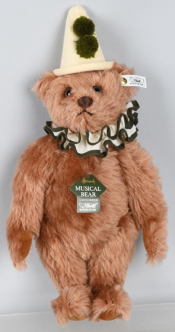 STEIFF HARRODS MUSICAL CLOWN BEAR