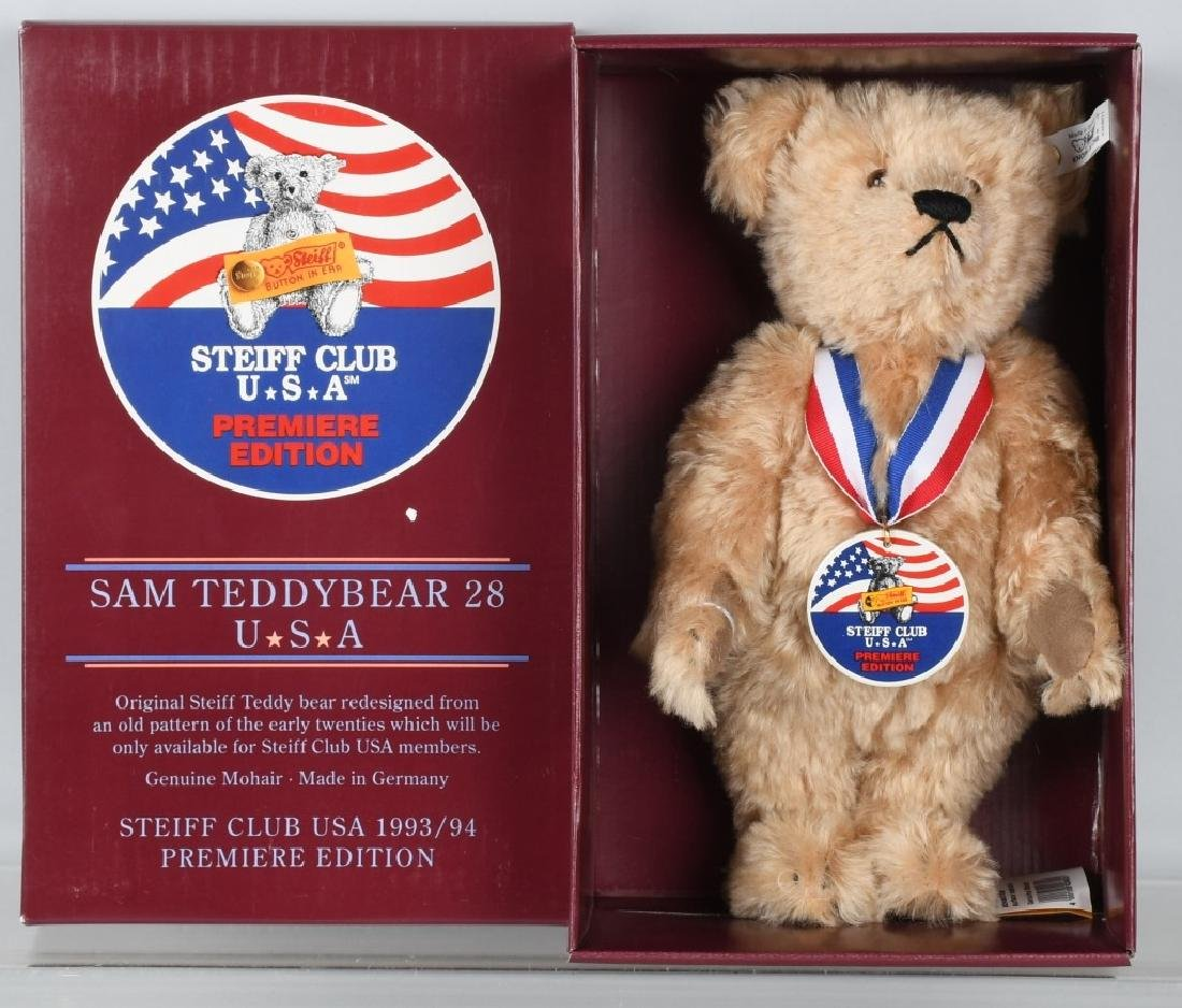 STEIFF CLUB BEAR PREMIERE SAM TEDDY BEAR